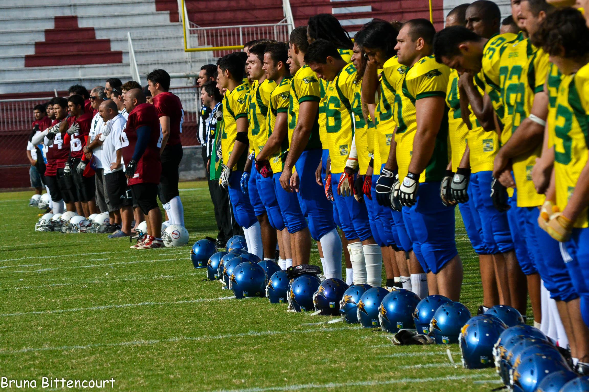 f2c506e7c6 Brasil vence bem Chile em Desafio de Futebol Americano