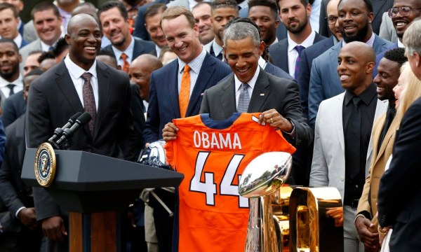 NFL: Super Bowl Champion-Denver Broncos White House Visit