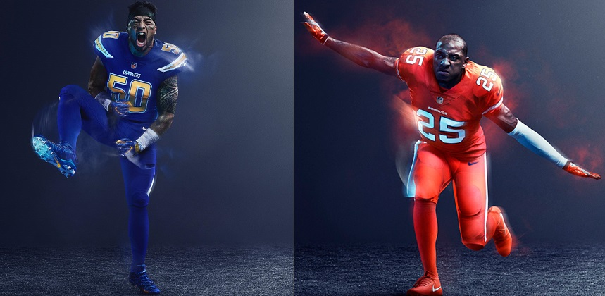 chargersbroncoscolorrush